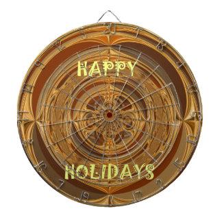 Happy Holidays Seamless Hakuna Matata Seasonal Gif Dartboard With Darts