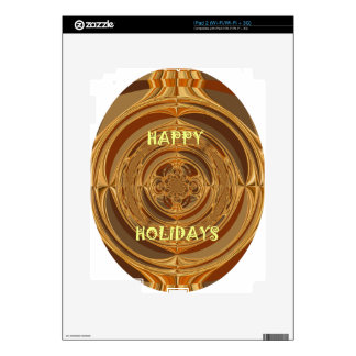 Happy Holidays Seamless Hakuna Matata Seasonal Gif iPad 2 Decal