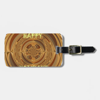 Happy Holidays Seamless Hakuna Matata Seasonal Gif Tag For Luggage