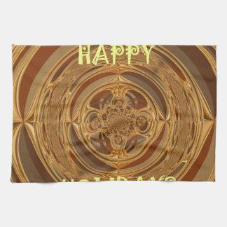 Happy Holidays Seamless Hakuna Matata Seasonal Gif Towel