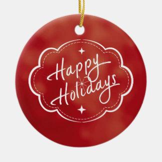 Happy Holidays Season Ornaments
