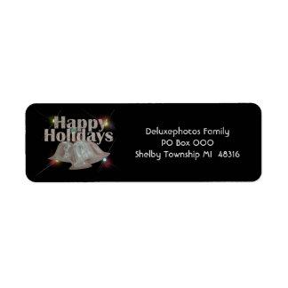 Happy Holidays Silver Bells Label