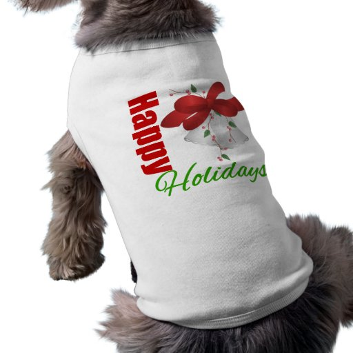 Happy Holidays Silver Bells Pet T-shirt