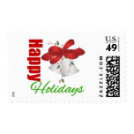 Happy Holidays Silver Bells Stamps