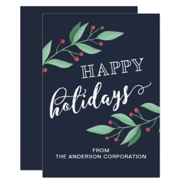 Professional Business Happy Holidays Simple Business Holiday Greeting Card
