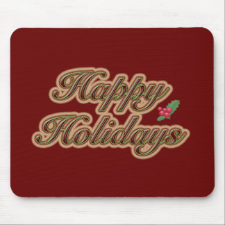 Happy Holidays Simple Text Mouse Pad