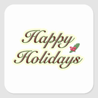 Happy Holidays Simple Text Square Sticker