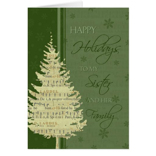 Happy Holidays Sister & Family Christmas Card