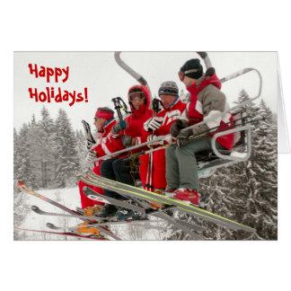 Happy Holidays, Ski life Card