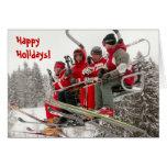 Happy Holidays, Ski life Greeting Card