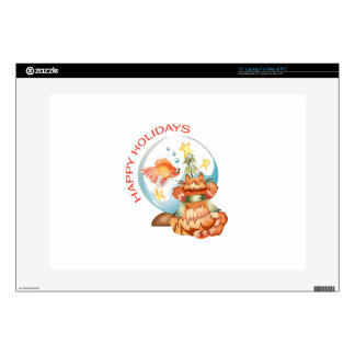 """HAPPY HOLIDAYS DECALS FOR 15"""" LAPTOPS"""