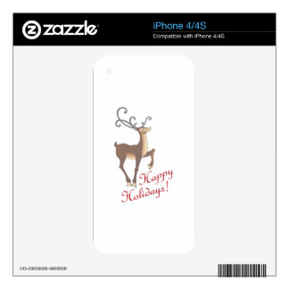 HAPPY HOLIDAYS SKINS FOR THE iPhone 4S