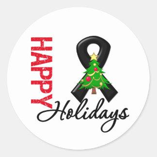 Happy Holidays Skin Cancer Awareness Classic Round Sticker