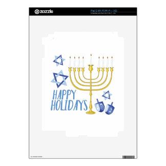 Happy Holidays Skins For iPad 2