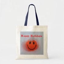 Happy Holidays Smiley Tote Bag