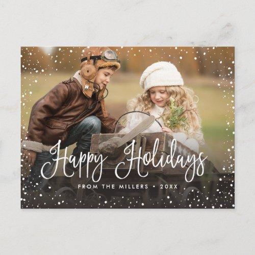 Happy Holidays Snow Holiday Postcard
