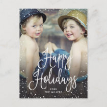 Happy Holidays Snow Holiday Postcard