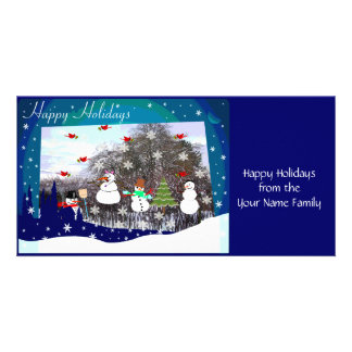 Happy Holidays Snow Scene Card