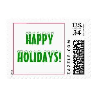 Happy Holidays Snow Stamp