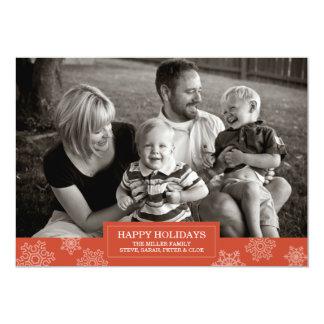 Happy Holidays snowflake card | Flat | 5x7