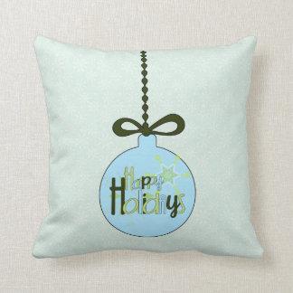 Happy Holidays Snowflake Reversible Pillow