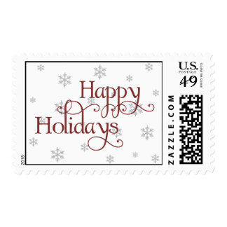 Happy Holidays Snowflake Stamp