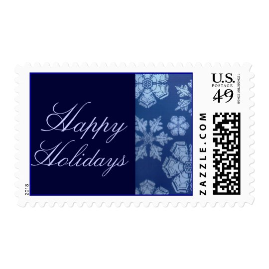 Happy Holidays Snowflake Stamps