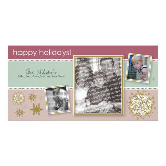 Happy Holidays Snowflake Sweet 3-Photo :: 01 Card