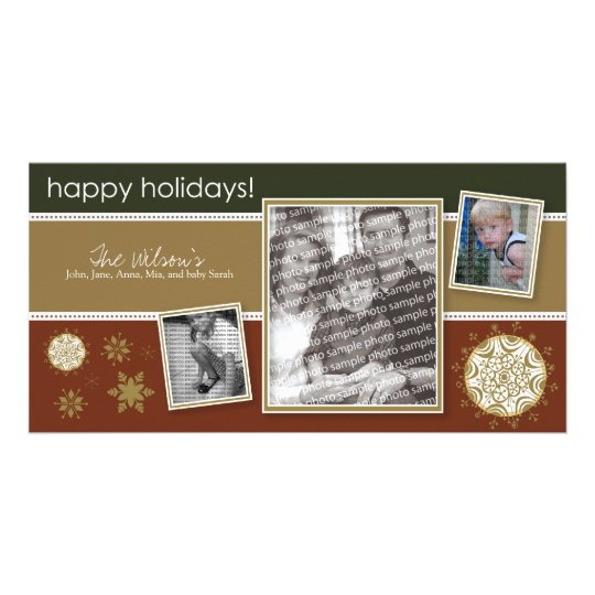 Happy Holidays Snowflake Sweet 3-Photo :: 07 Card