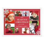 Happy Holidays Snowflakes 8 Photo Greeting Card