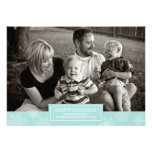 Happy Holidays Snowflakes Card | Flat | Blue
