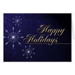 Happy Holidays Snowflakes Greeting Cards