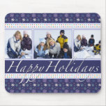 Happy Holidays Snowflakes Photo Template Mousepad