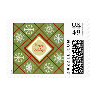 Happy Holidays Snowflakes Postage Stamp
