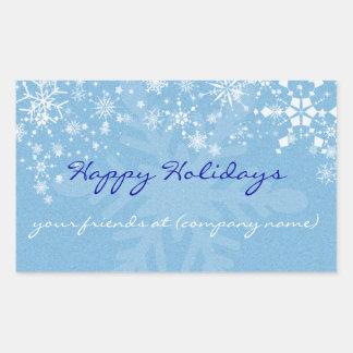 Happy Holidays Snowflakes Wine Label/Sticker