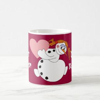 Happy Holidays Snowgirl Coffee Mug,Snowman Mugs