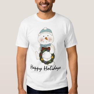 Happy Holidays Snowman #3 T-shirt