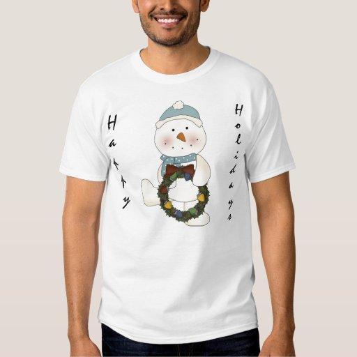 Happy Holidays Snowman #4 T-shirt