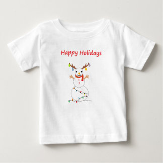 Happy Holidays Snowman Baby T-Shirt