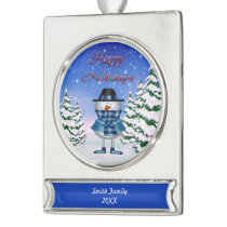 Happy Holidays Snowman Banner Ornament