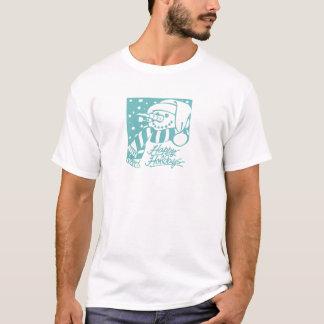 Happy Holidays Snowman - Blue T-Shirt