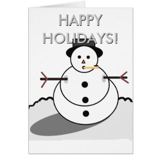 Happy Holidays Snowman Card
