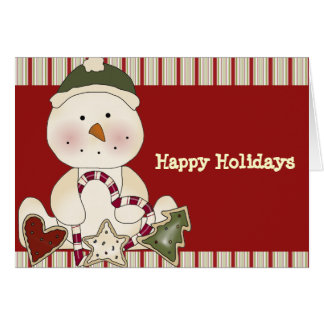 Happy Holidays Snowman Cards