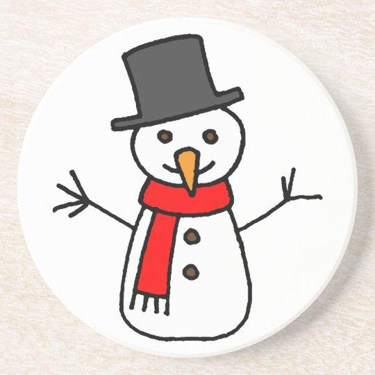 Happy Holidays Snowman Coaster
