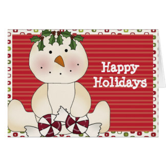 Happy Holidays Snowman & Goodies Cards