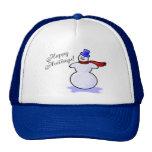 Happy Holidays (Snowman) Hat
