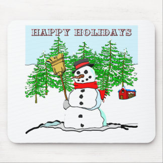 Happy Holidays - Snowman Mouse Pad