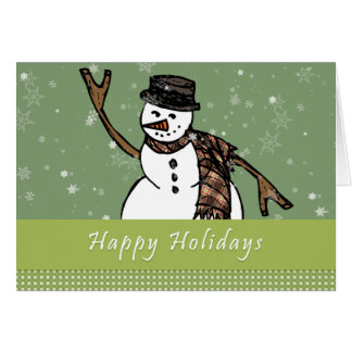 Happy Holidays Snowman Notecards Card