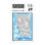 Happy Holidays Snowman Photo Postage