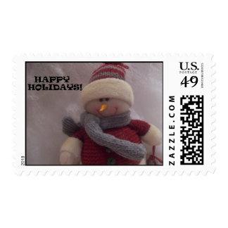 Happy Holidays Snowman Stamps